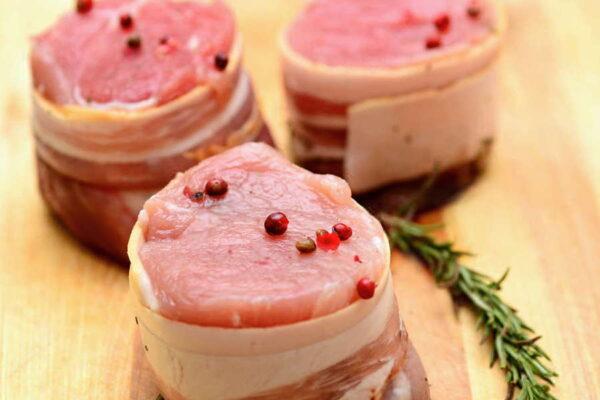 Bacon Wrapped Pork Tenderloin Medallions – L&M Meat